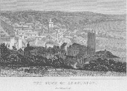 Town of Ashburton, Devonshire.: Dugdale's England and Wales, Delineated.