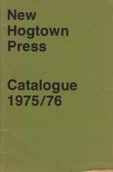 New Hogtown Press Catalogue 1975/76.