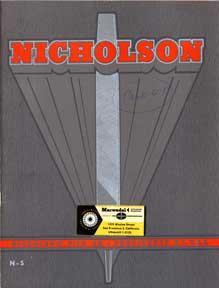 Nicholson File Company. Files and Rasps Catalog.: Nicholson File Co.
