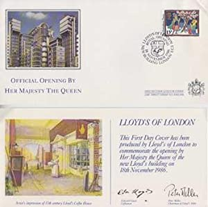 Lloyd's of London First Day Cover to: Lloyd's of London.