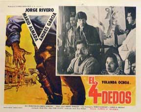 Cuatro dedos, El [movie poster]. (Cartel de la película).: Dirección: Alfredo B. Crevenna. ...