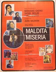 Maldita miseria [movie poster]. (Cartel de la película).: Dirección: Julio Aldama. Con ...