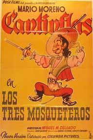 Tres mosqueteros, Los [movie poster]. (Cartel de la película).: Dirección: Miguel M. Delgado...