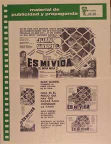 Es mi vida [movie poster]. (Cartel de: Dirección: Gonzalo Martinez