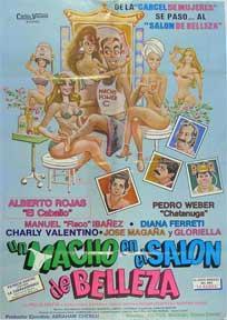 Macho en el salon de belleza, Un [movie poster]. (Cartel de la película).: Dirección: Victor...