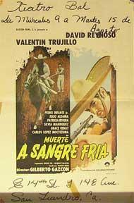 Muerte a Sangre Fria [movie poster]. (Cartel de la película).: Dirección: Gilberto Gazcon. ...
