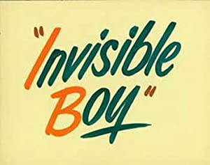 Hand-painted lobby card for the sci-fi film Invisible Boy.: Hoffman, Herman, dir.
