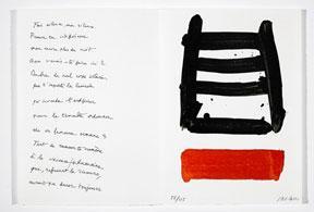 """Fais silence"""" from Vingt-deux poèmes by Jean Cassou.: Soulages, Pierre."""