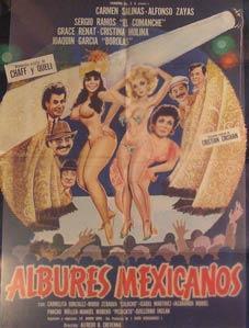 Albures Mexicanos. Movie poster. (Cartel de la: Dirección: Alfredo B.