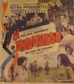 El Andariego. Movie poster. (Cartel de la Película).: Dirección: Federico Curiel. Con ...