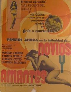 Novios y Amantes. Movie poster. (Cartel de la Película).: Dirección: Sergio Véjar. Con ...