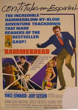 Hammerhead. Movie poster.: With Vince Edwards, Judy Geeson, Peter Vaughan.