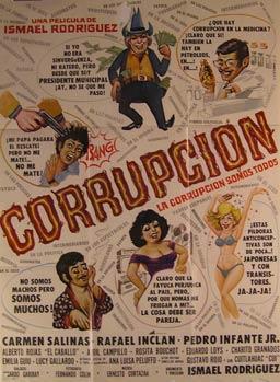 Corrupcion. Movie poster. (Cartel de la Película).: Dirección: Ismael Rodríguez. Con Carmen Salinas...