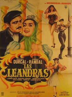 Las Leandras. Movie poster. (Cartel de la: Dirección: Gilberto Martínez