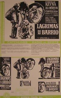 Lagrimas de Mi Barrio. Movie poster. (Cartel de la Película).: Dirección: Rubén Galindo. Con...