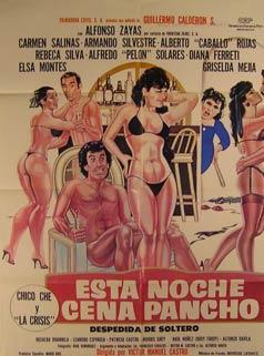 Esta Noche Cena Pancho. Movie poster. (Cartel: Dirección: Victor Manuel