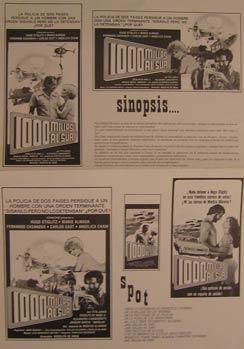 Mil Millas al Sur. Movie poster. (Cartel de la Película).: Dirección: Rodolfo de Anda. Con ...