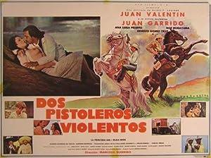 Dos Pistoleros Violentos. Movie poster. (Cartel de la Película).: Dirección: Francisco Guerrero. ...