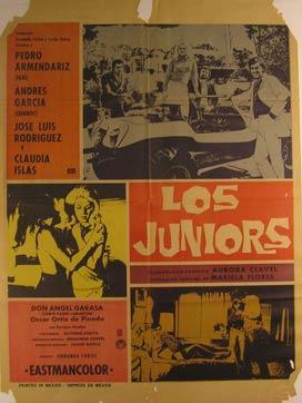 Los Juniors. Movie poster. (Cartel de la: Dirección: Fernando Cortés.