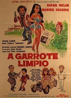 A Garrote Limpio. Movie poster. (Cartel de: Dirección: Julio Ruiz