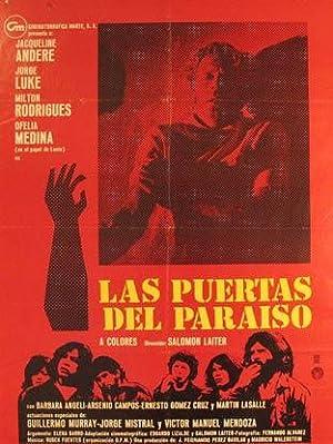 Las Puertas del Paraiso. Movie poster. (Cartel: Dirección: Salomón Laiter.