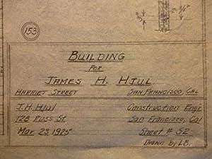 Building Plans for James H. Hjul at Harriet St., San Francisco.: Hjul, James H.