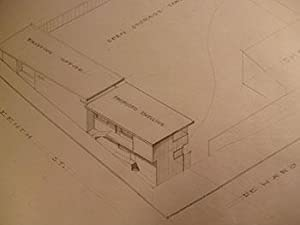 Building Plans, Elevations, Interior Details, and Perspective for a Three Family Dwelling on the ...