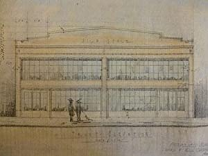 Building Plans and Hand Colored Elevation for C. A. Chaquette at 10th St. and Sheridan St., San ...