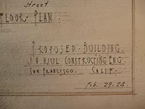 Building Plans for a Proposed Building, San Francisco.: Hjul, James H.