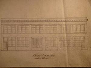Building Plans and Elevations for a Building for W. H. Woodfield on Folsom St. between Folsom and ...
