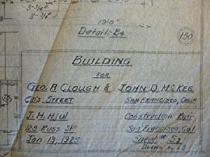 Building Plans for Geo. A. Clough and John D. McKee (Chairman of Board American Trust Co.) at Otis ...
