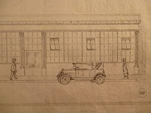 Building Plans and Elevations for a Garage & Office Building for The Pacific Telephone & ...