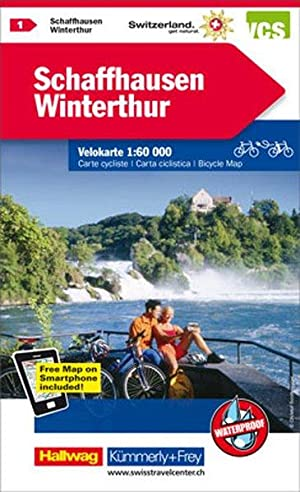 Schaffhausen-Winterthur Velokarte Nr. 1 1:60 000, waterproof, Free Map on Smartphone included