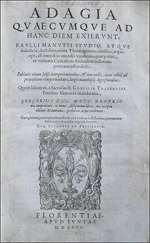 Adagia quaecumque ad hanc diem exierunt, Paulli: ERASMUS ROTERODAMUS