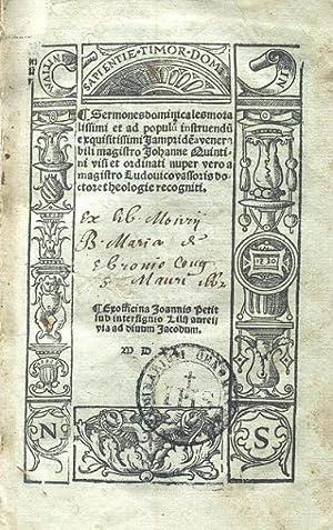 Sermones dominicales moralissimi et ad populum instruendum: HACQUEVILLE Nicolas