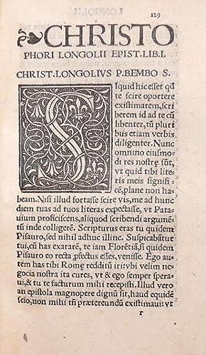 Christophori Longolii Orationes duae pro defensione sua: LONGOLIUS Christophorus (Longueil