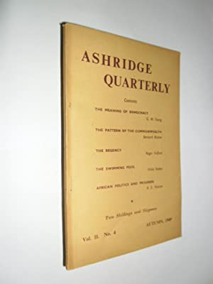 Ashridge Quarterly Vol.11. No.4 Autumn 1949