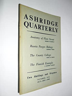 Ashridge Quarterly No.6 Vol.1 Oct-Dec 1948