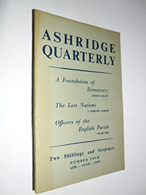 Ashridge Quarterly No.4 Vol.1 April -June 1948