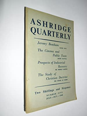 Ashridge Quarterly No.5 Vol.1 July-Oct 1948