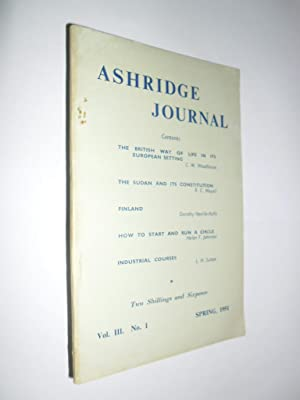 Ashridge Journal Vol.111. No.1 Spring 1951