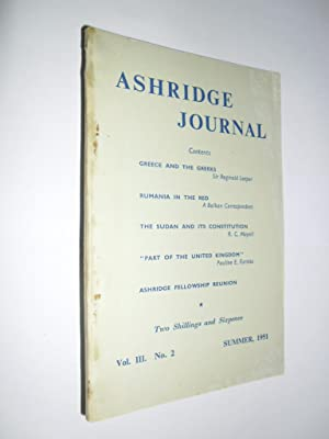 Ashridge Journal Vol.111. No.2 Summer 1951
