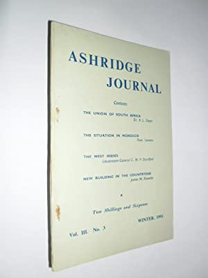 Ashridge Journal Vol.111 No. 3. Winter 1951