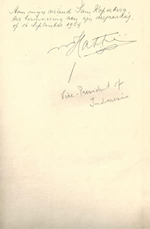 Social-Economic Movements. [Signed / Inscribed Association copy: Hatta, Mohammad /