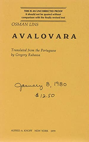 Avalovara. Translated from the Portuguese by Gregory: Lins, Osman.
