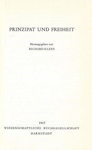 Prinzipat und Freiheit.: Klein, Richard.