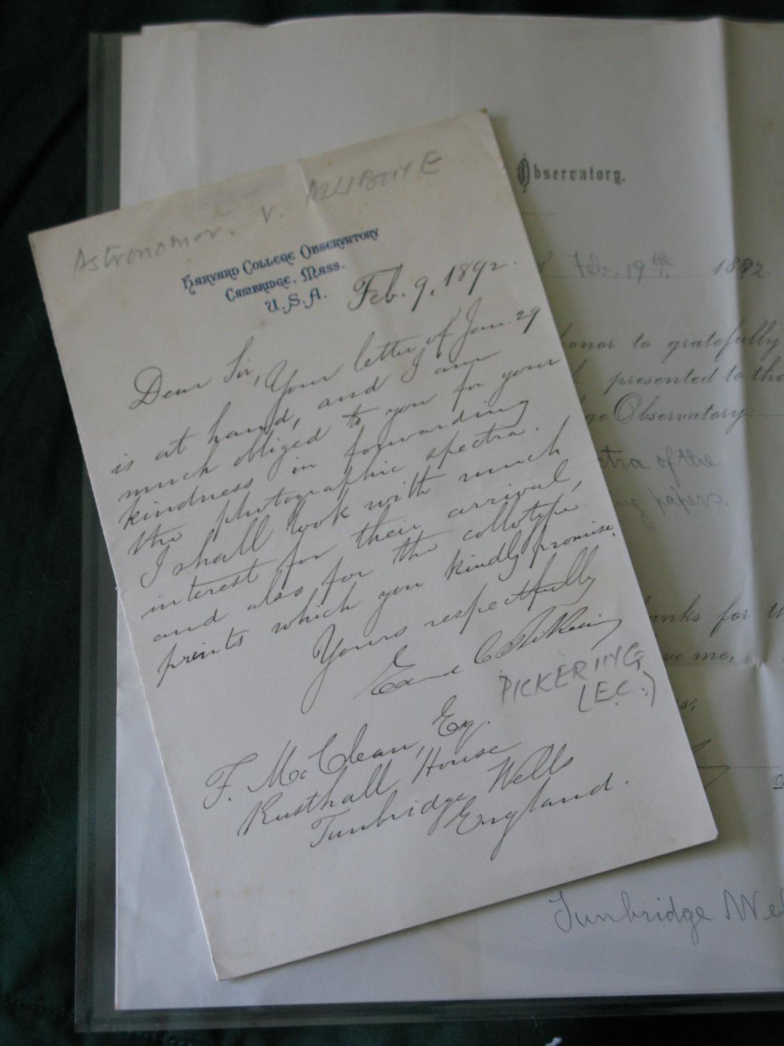 Autograph_Letter_Signed_&_two_signed_printed_items_with_ms_insertions_Edward_Pickering_astronomer_and_Director_Harvard_College_Observatory_Assez_bo