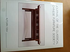 Journal of the Classical Chinese Furniture Society Autumn 1994,Vol.4,No.4: Jean Chapman (Editor)