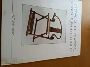 Journal of the Classical Chinese Furniture Society, Autumn 1992, Vol.2, No4: Jean Chapman