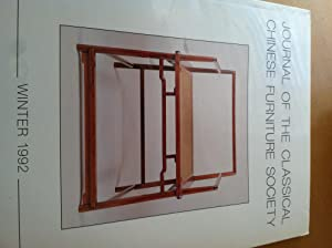 Journal of the Classical Chinese Furniture Society, Winter 1992, Vol.3, No 1: Jean Chapman